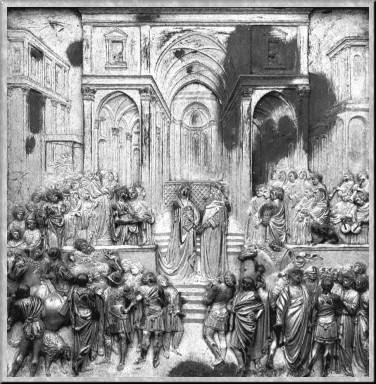 Гиберти встреча царя соломона с