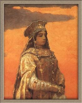 Но в народной молве сложилась легенда о ее гибели во время знаменитого картина три царевны подземного царства